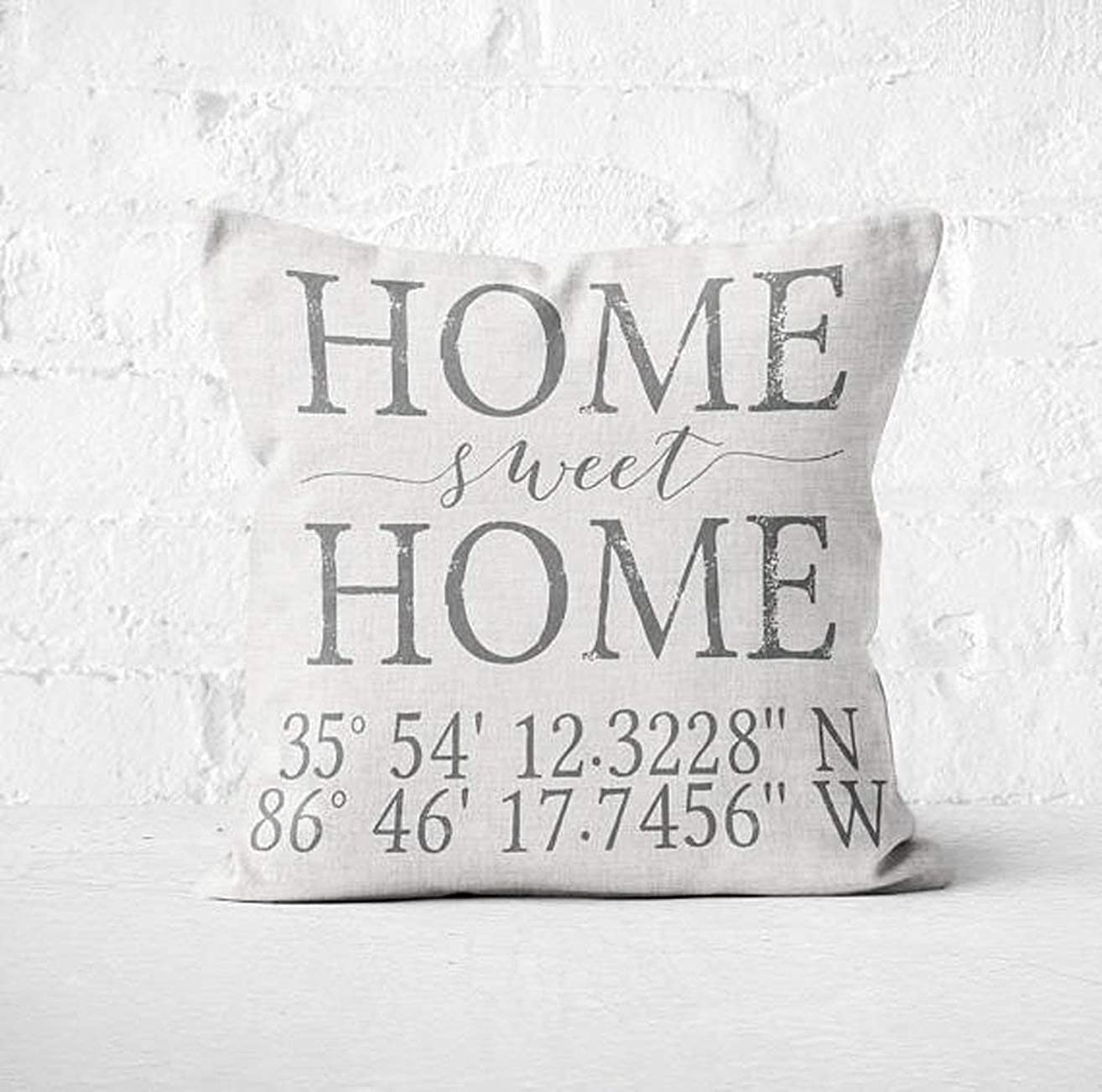 High quality Housewarming gift, Longitude Latitude pillow, Wedding gift, Coordinates Pillow Cover Personalized Gift