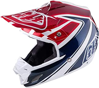 Troy Lee Designs Offroad Motocross SE3 Neptune Helmet (X-Small, White/Blue/Red)