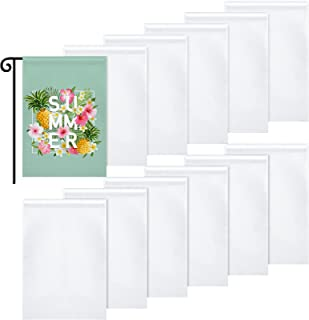 Blank Garden Flag DIY Lawn Garden Flags Polyester Banners Flag for Indoor Outdoor Courtyard Decoration, 11.8 x 17.7 Inches...