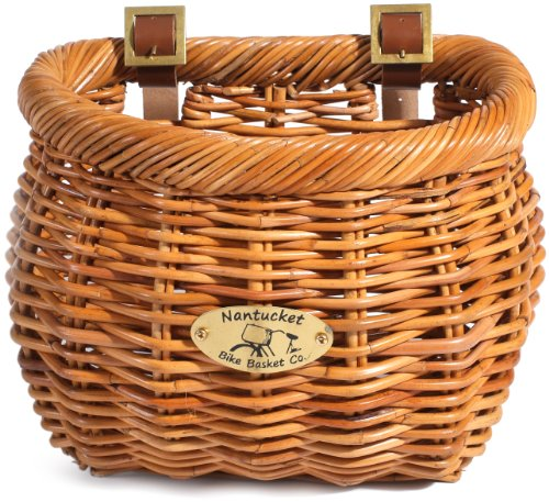 Nantucket Bike Basket Co Cisco Collection Classic/Tapered Bicycle Basket (Tan,11.5 x 9.5' x 9.5')'