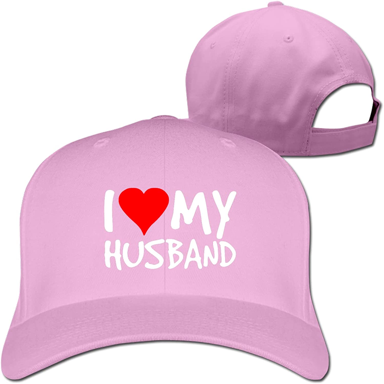 I Love My Husband Adjustable Baseball Cap Peaked Cap Dad Hat for Men and Women Blue