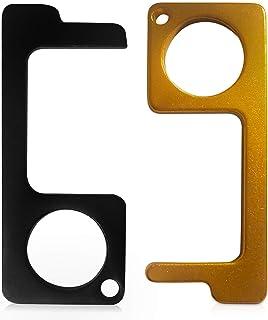 No Contact Door Opener Keychain Tool (Black and Gold)