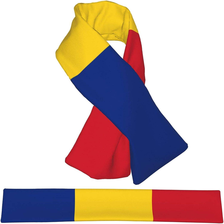 Winter Scarfs Romanian Flag Scarves Wraps Neck Warmer Flannel Winter Cross Tie Scarves