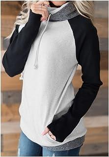 7TECH Spring Zip-Spliced Hoodie Sweater, Black