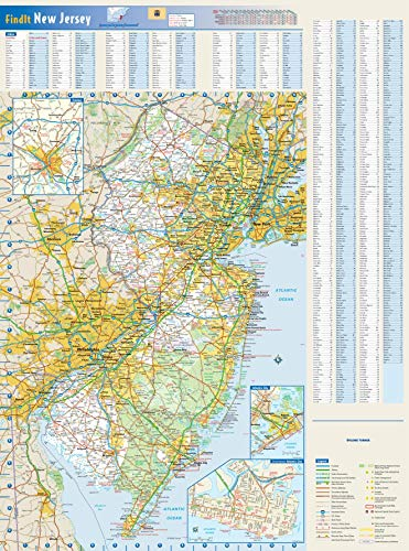 New Jersey State Wall Map - 18.5' x 25' Paper