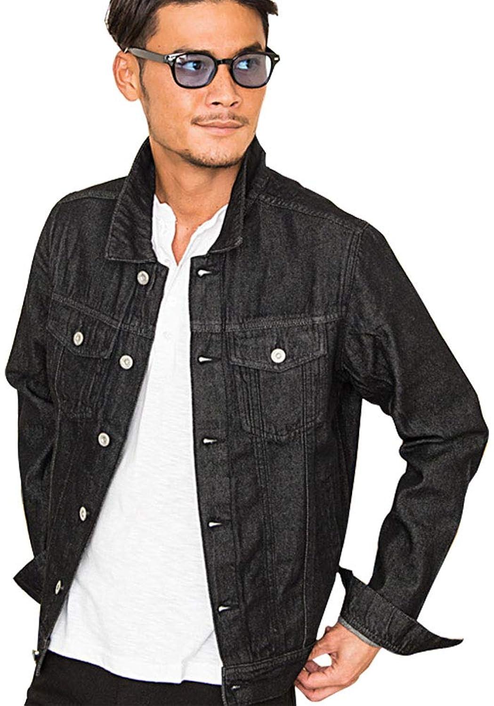(ビッチ) VICCI メンズ デニムジャケット Gジャン ジージャン ブルゾン 上着 羽織 長袖 色落ち 春 秋