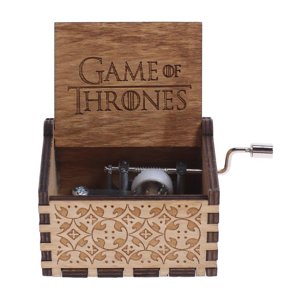 NELNISSA - Caja de música grabada de Madera con diseño de Juego de Tronos: Amazon.es: Hogar