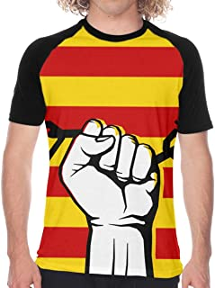 PAOMOZX Catalan Flag Shirt Men Shirts Black