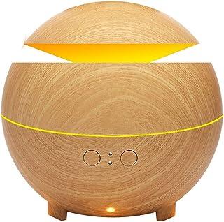 加湿器、ウッドグレイン超音波加湿器アロマテラピーマシン、usbサイレント寝室香ランププラグイン電気香、ライトウッドグレイン (色 : B)