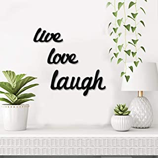 Sehaz Artworks Live Love Laugh Plaque Sign - Black Wooden Plaque Wall Hangings Home Room & Wall Decor Wall Art
