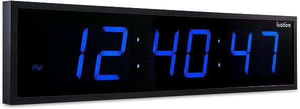 DBTech Huge Large Big Oversized Digital LED Clock, Blue - 36