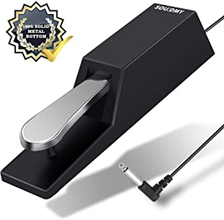 Souidmy Universal Sustain Pedal, Heavy Non-Slip Pedal...