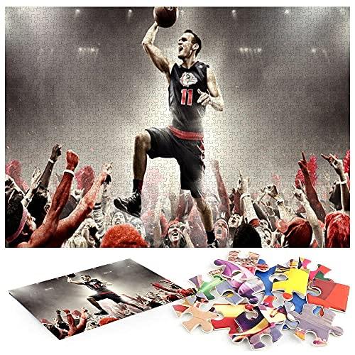 Puzle de 1000 piezas para adultos con pelota de baloncesto, rompecabezas de 1000 piezas, rompecabezas para adultos, brillantes y coloridos, juego creativo para interiores para relajar