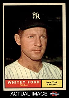 1961 Topps # 160 Whitey Ford New York Yankees (Baseball Card) (Height Listed as 5`) Dean`s Cards 5 - EX Yankees