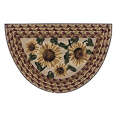 Brumlow Mills Sunflower Braid Kitchen Rug, 19-Inch by 31-Inch, Sunset