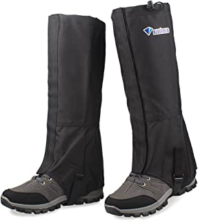 MAGARROW Leg Gaiters Hiking Snow Boot Gaiter Outdoor Waterproof Gaiters Shoes Cover Oxford Fabric (Black, Large)