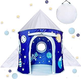 Leksaker för barn pojke 4 5 6 7 år, tält för pojkar barn gåva ålder 3-9 småbarn, pojkar barntält för inomhus och utomhus l...