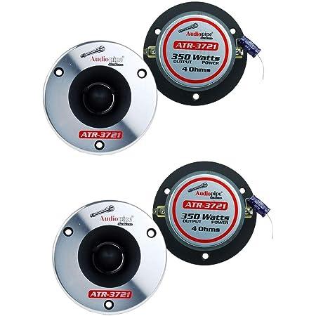 """4) Audiopipe ATR-3721 3.75"""" 350W Titanium Pro Car Audio Bullet Tweeters ATR3731"""