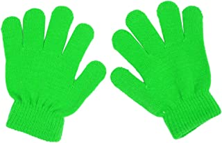 Winter Kids Knit Gloves Stretch Solid Colors Mittens for Baby Boys Girls