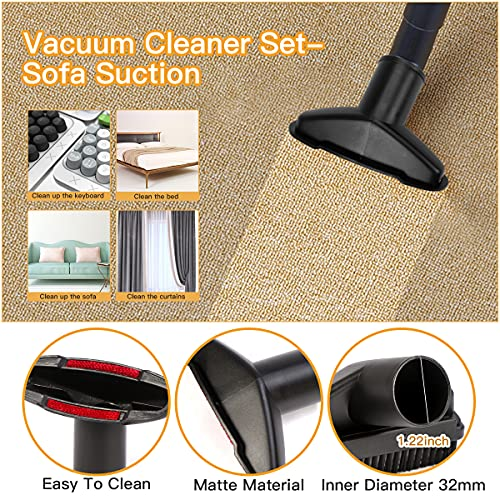 Futurekart Basic Vacuum Cleaner Accessory Kit - Suitable for General Purpose Vacuum Cleaner Set of 6 (Inner Diameter of 31mm)