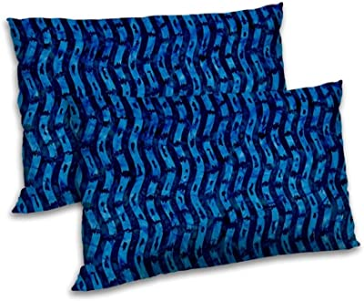 RADANYA Abstract Printed Pillow Cover Set Rectangular Throw Bedding Gift Item - Blue,18x27 Inch