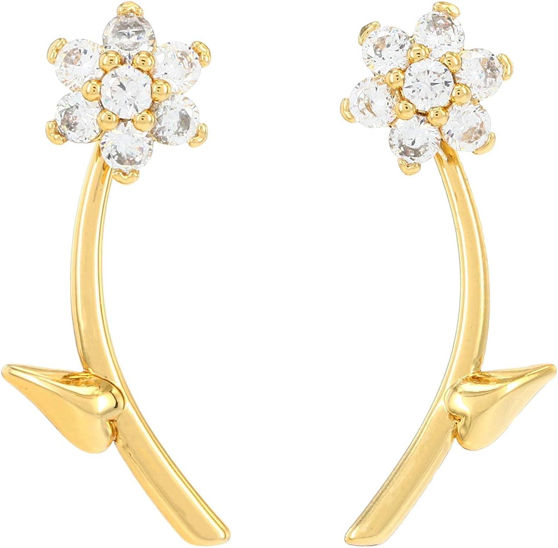Kate Spade New York Miosotis Flower Ear Jacket Earrings