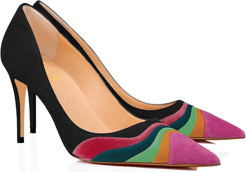 FOWT Women Tulsa Mall Kitten Heels Pumps High Pump Max 52% OFF Toe Slip-on Heel Pointed