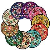Ambielly Redondo Hecho a Mano del Ganchillo del algodón del cordón de Mesa manteles Doilies, Value Pack / 10 PCs (5.12'/13cm, Los Colores Mezclados)