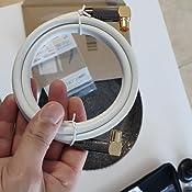 deleyCON 12,5m TV Cable de Antena HDTV Full HD 2X en Ángulo Cable Coaxial - Enchufe de TV (90° Grados) para Toma de TV (90° Grados) Tapón de Metal - ...