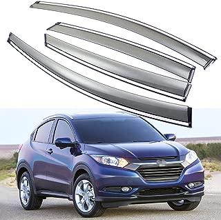 SPEEDLONG 4Pcs Car Window Visor Vent Shade Deflector Sun/Rain Guard fit for Honda HRV HR-V 2016 2017 2018 2019 2020