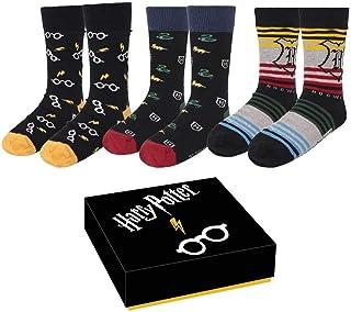 CERDÁ LIFE'S LITTLE MOMENTS, Hombre Calcetines de Harry Potter Licencia Oficial Warner Brothers, Multicolor, Estándar