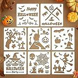 Coogam 8 Stück Halloween-Schablonen Vorlage DIY Dekorative