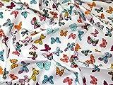 Schmetterling Print Baumwolle Popeline Stoff Meterware,