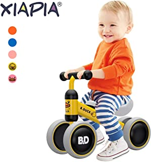 XIAPIA Baby Balance Bike Toddler Tricycle Bike No Pedals 10-24 Months Ride-on Toys Gifts Indoor Outdoor for One Year Old Boys Girls First Birthday Thanksgiving Christmas