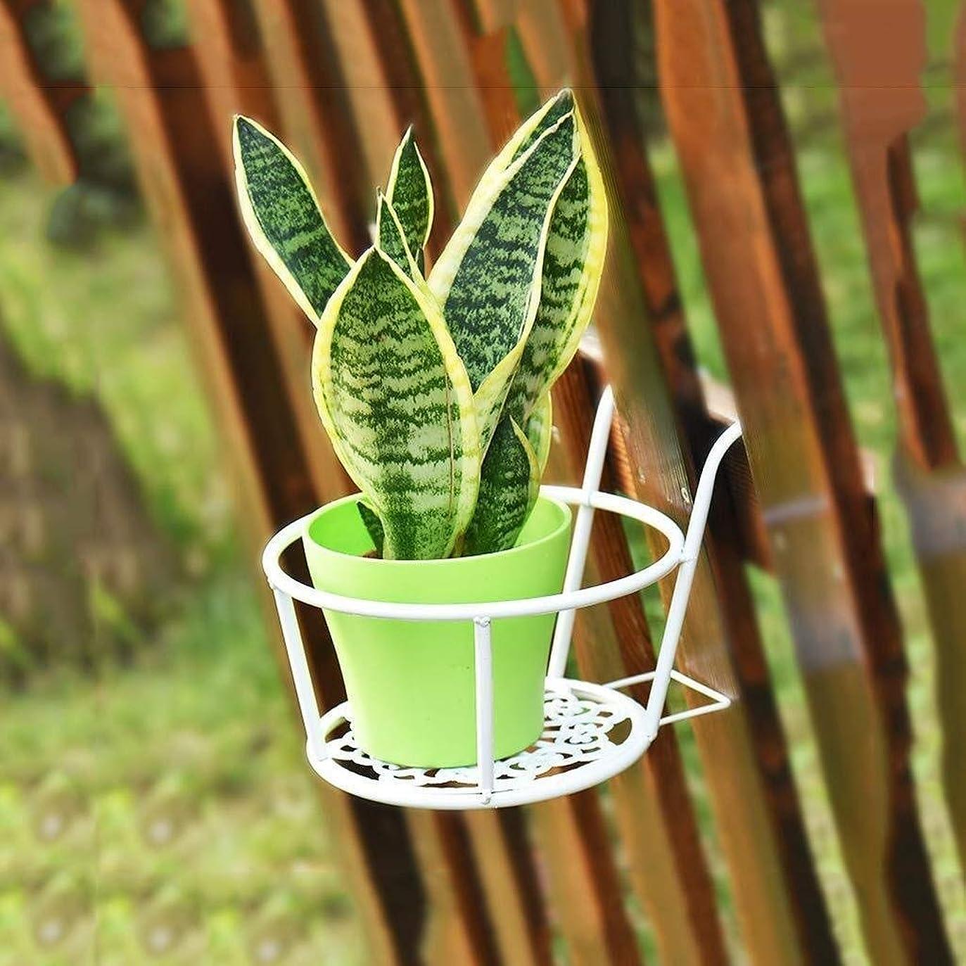 プラットフォームペインギリック迫害する花瓶 ガーデニング金属多機能フラワースタンドモノクロパーム工場花大緑白中空18 * 19センチメートル (Color : White)
