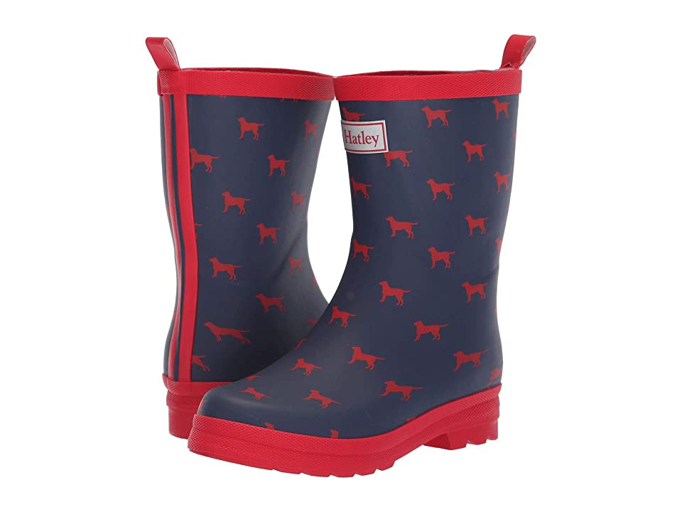 Hatley Kids Limited Edition Rain Boots (Toddler/Little Kid) (Red Labs Navy/Red) Boys Shoes