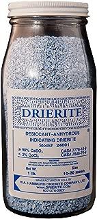 W A HAMMOND DRIERITE CO WAH 24001 EA Indicating Drierite, 1 lb, 10-20 Mesh, 10.5