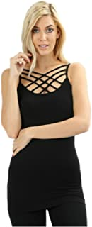 Seamless Triple Criss-Cross Front Cami (Multiple Colors & Sizes)