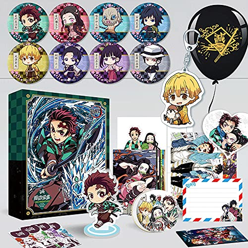 FUYUNLAI Demon Slayer/Anime Gift Box/Looksee Box Anime/Mystery Box Items/Anime Peripheral/Postcards/Badges/Posters/Themed Collectibles/Best Anime Fans Birthday Gift Set