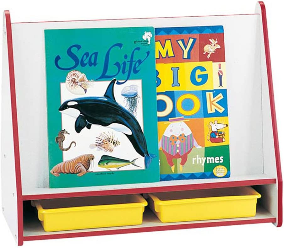 Jonti-Craft BIG BOOK PICK-a-BOOK outlet STAND - FULLY BLACK SIDED 1 Bombing new work A