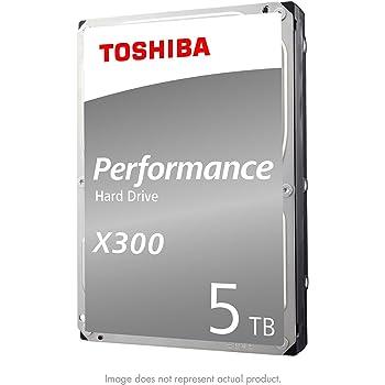 Toshiba (HDWE150XZSTA) X300 5TB Performance Desktop and Gaming Hard Drive 7200 RPM 128MB Cache SATA 6.0GB/s3.5 Inch Internal Hard Drive