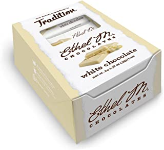 ETHEL M Chocolates Premium Chocolate Bar Box Set of 24 (White Chocolate)