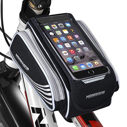 MOREZONE MTB BMX Borse Telaio Bicicletta Per IPhone Samsung Smartphone Sacchetto Borsa Anteriore Bici Borsa Tubo Per Telefono Sotto Di 5.5\