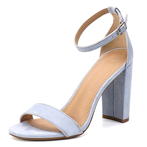 5dea4756763 Moda Chics Women s High Chunky Block Heel Pump Dress Sandals