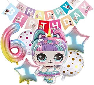 Party's Balloons for Chrildren Surprise Birthday Balloon Bouquet Decorations Surprise Doll Banner Chirldren's Party for LOL