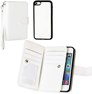 PS01 Premium Leather Folio Case Wallet Magnetic Detachable Removable Wristlet Purse Soft Multiple Card Slots Cover for iPhone 5C
