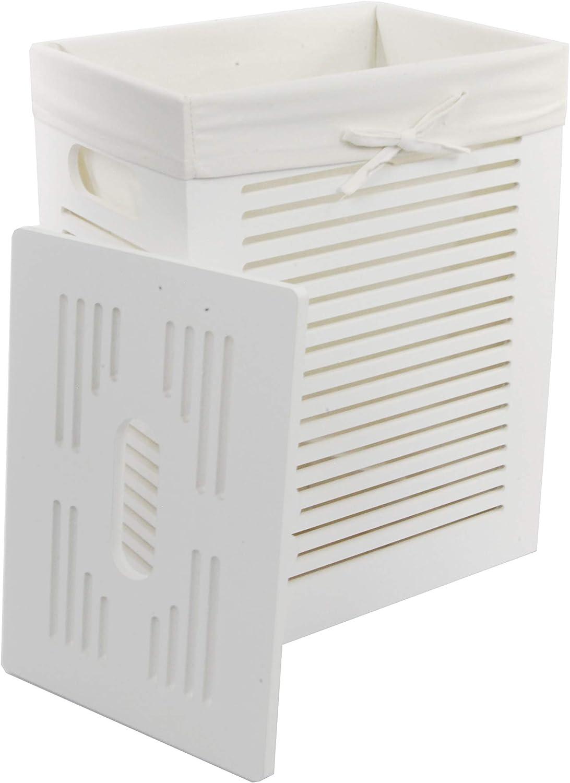 dvier Laundry Basket MDF White MHZWK-08WRt-a. Free shipping New x 35 Elegant H.46 25