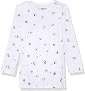 Petit Bamboo Baby Long Sleeve Top, White Floral