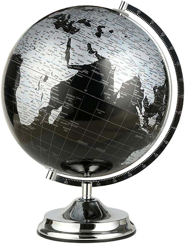 comprar nuevo barato WPFC Globo del Mundo (diámetro 27 cm) - Geografía de de de Aprendizaje Decoración Moderna de Escritorio - con una Base de Metal - Bracket de Metal Negro metálico (27 cm de diámetro),M  despacho de tienda