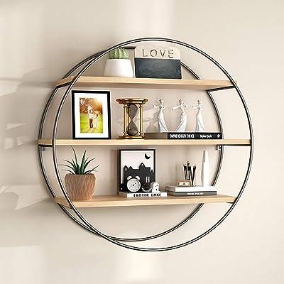 1 Piece Nordic Style Wrought Iron Art Wooden Shelf Wall Hanging Display Rack HOT